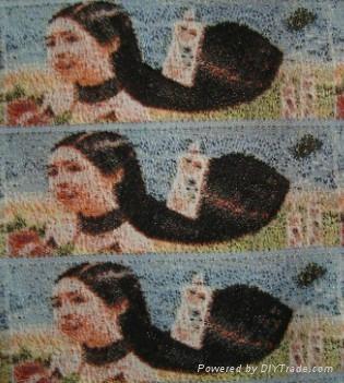 photo woven label(3D) 3