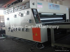 HY-A semi automatic printer slotter with die cutting machine