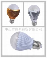 LED球泡,5W(5*1W),大功率,台湾芯片,可过CE