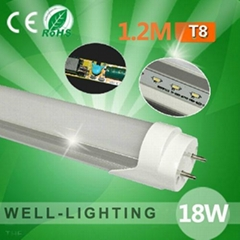 led t8 tube light 18W SMD2835 96leds 1200mm with led driver 85-265V/AC110V