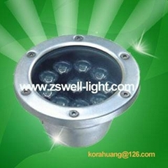 Two year warranty,High Power 9W LED Underground Lighting,Round shape,IP65