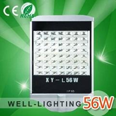大功率LED路灯56W,220V,可做12V/24V太阳能,进口普瑞灯珠,防水等级IP65,质保三年