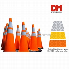 Traffic cone sleeve foil