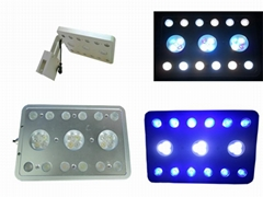 21w 27w led aquarium lights for coral reef fish tank with 1w leds