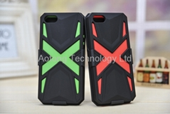 Colorful Monster X-MEN 3 in 1 Cover Case Bracket For iphone 5