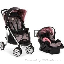 Safety 1st Aerolite Sport Baby Travel System in Eiffel Rose
