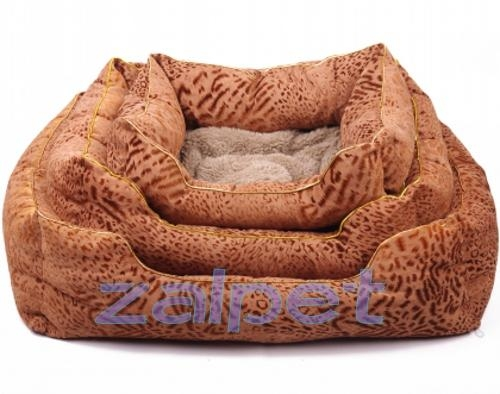 wholesale fashion leopard square pet bed