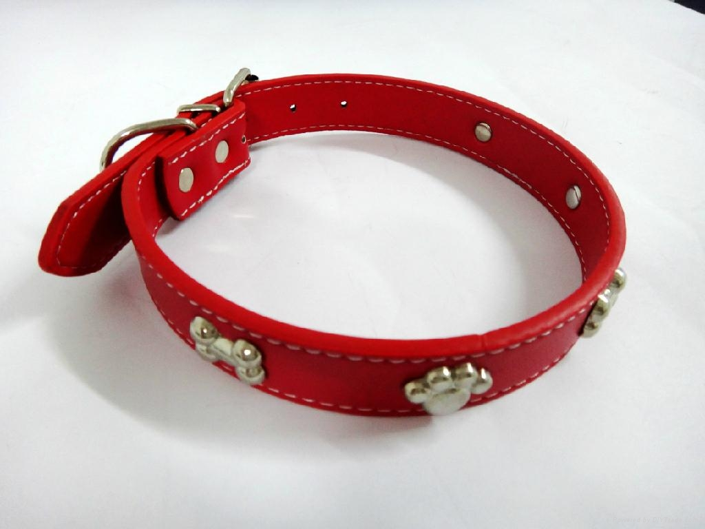 2011热卖皮制宠物项圈 1