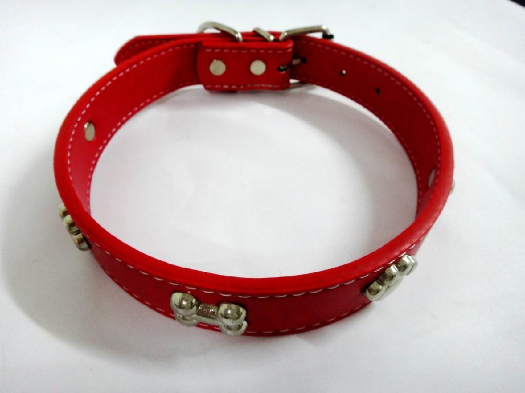 2011热卖皮制宠物项圈 2