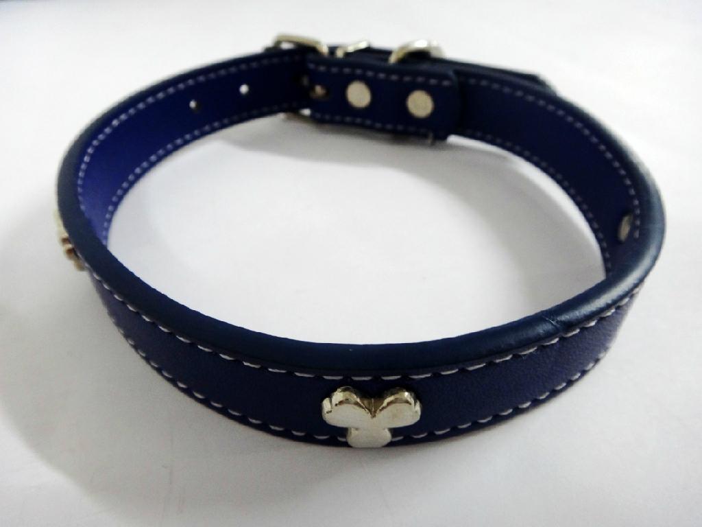 深蓝色时尚宠物项圈 1