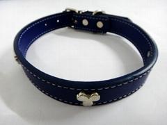 深蓝色时尚宠物项圈