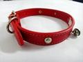2011红色时尚宠物项圈 2