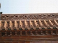 Golden glazed ceramic Eave Tile of roof