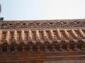 Golden glazed ceramic Eave Tile of roof
