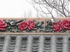 roof ridge tile Flower Ridge