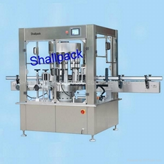 Rotary position- requested labeling machine