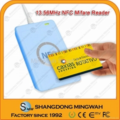 Mini card reader for mifare cards USB interface