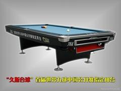 首屆世界九球中國公開賽指定用台球桌---JUS--J09