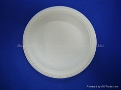 Corn Starch Disposable Tableware Compostable round Plate HYP-7