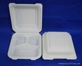 "8"" 3-com Clamshell Disposable Tableware  1"