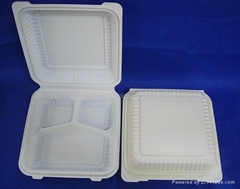 "9"" 3-com Clamshell Disposable Tableware"