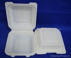 """6"""" Biodegradable Hamburger Box - Clamshell HYC-6"""