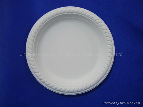 Corn Starch Disposable Tableware Compostable round Plate HYP-7  2