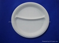 Corn Starch Disposable Tableware Compostable round Plate HYP-7  3