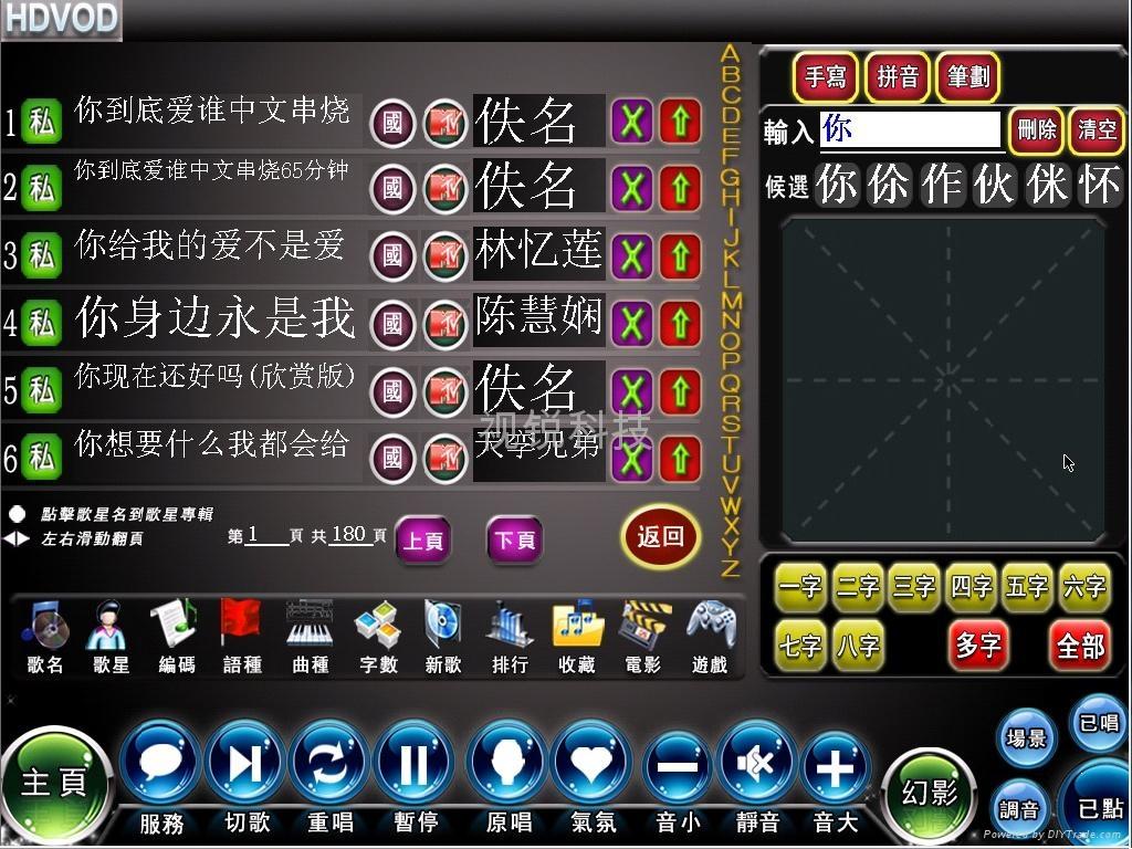 ktv点歌系统豪华版:; ktv点歌系统图片展示;