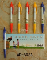 Plastic pen carton ballpoint pen,neutral
