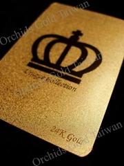 24K Gold Foil Play Cards Set