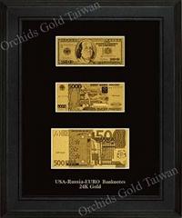 24K Gold Foil Banknote Series 3in1 & Complete Set