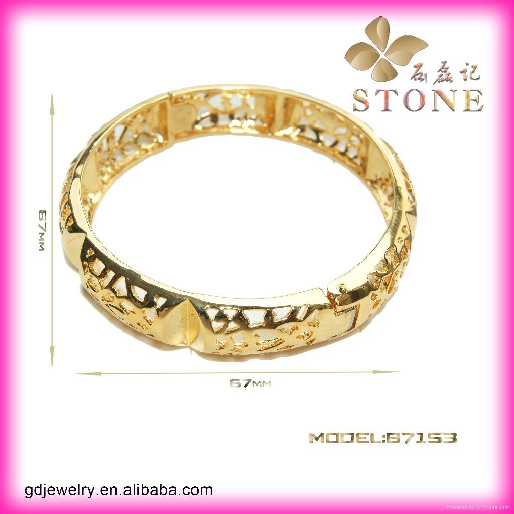 Sunny jewelry custom 18k gold bangle and bracelets jewellery 1