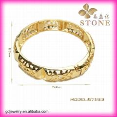 Sunny jewelry custom 18k gold bangle and bracelets jewellery