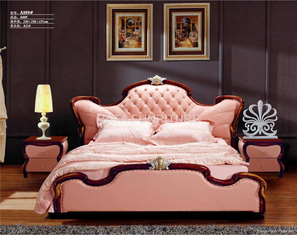 2012 new design sculptural soft genuine leather bed - 2012 A883 ...