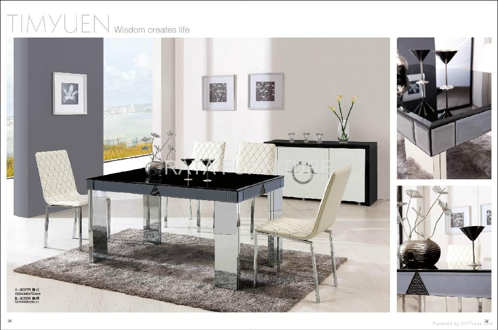2012 new design modern glass table hardware dining table for Comedor minimalista