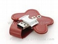 8GB Shaped Leather USB Flash Stick/usb driver/usb gift/usb disk