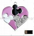 Jewelry Heart USB flash Drive/usb driver/usb promotion/usb disk/pen driver