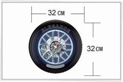 Tyre Wall Clock(with running light)