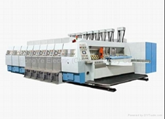 corrugated flexo printing slotting machine with die cutting department