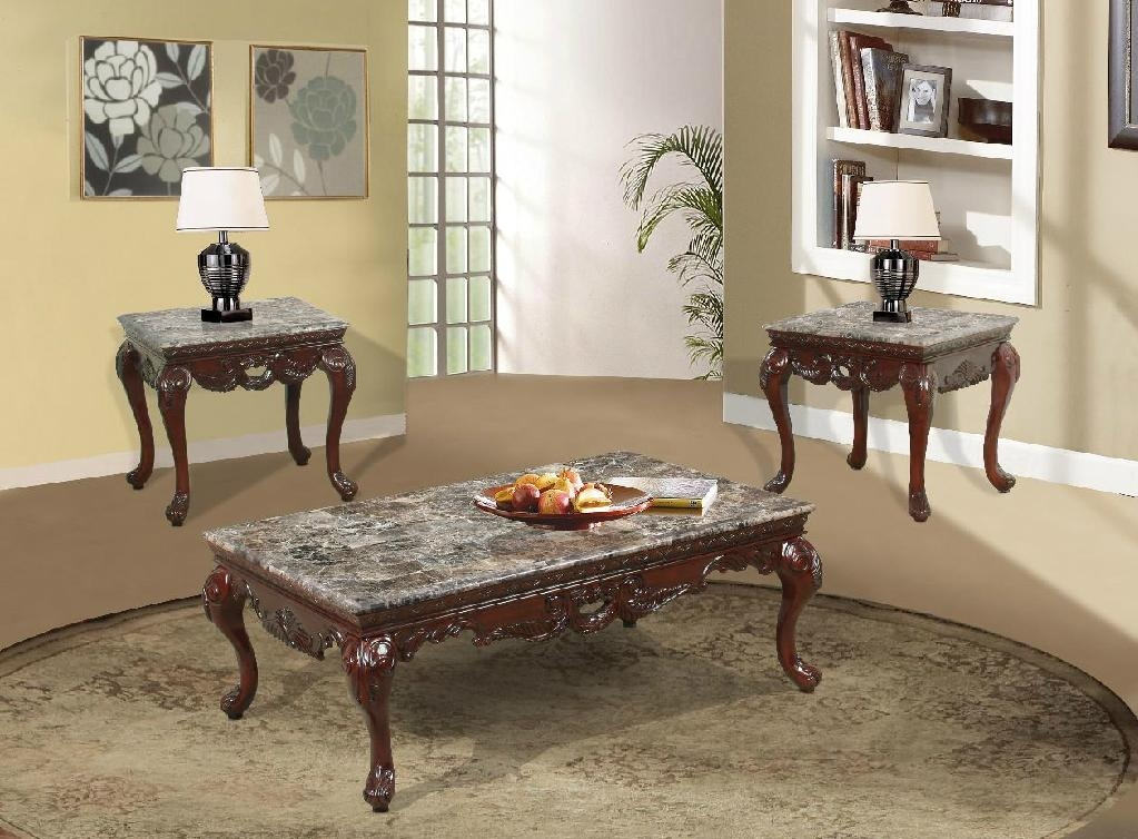 Exquisite Solid Wood With Marble Top Coffee Table Cf 919 Eif China Living Room Furniture