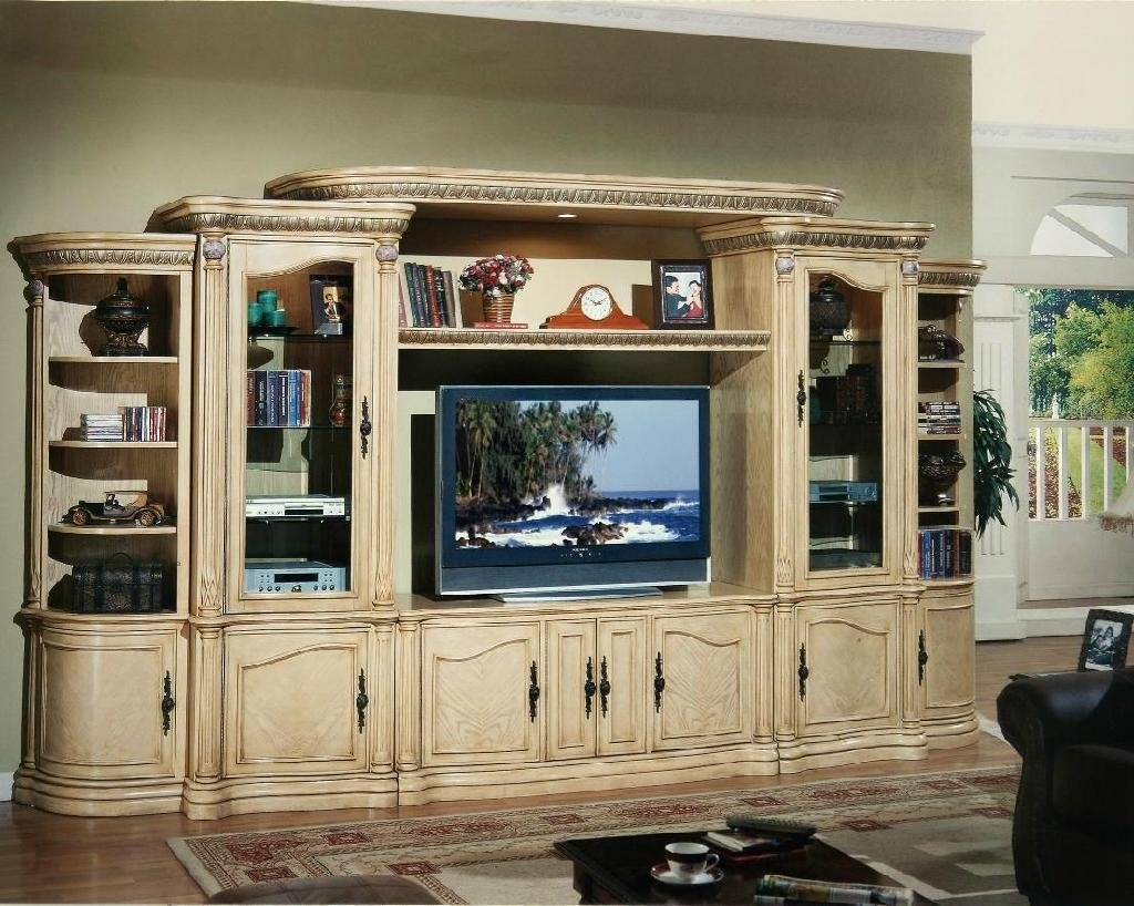 Appealing Living Rooms Built Wall Units