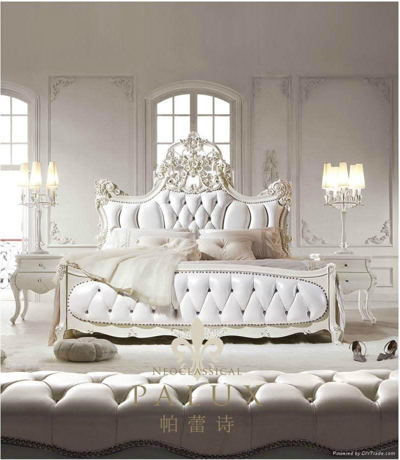 Neoclaaic furniture antique solid wood bedroom set 318 - Solid hardwood bedroom furniture ...