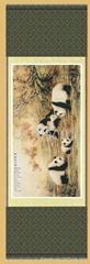 蜀錦 真絲織錦 中華國寶圖 熊貓