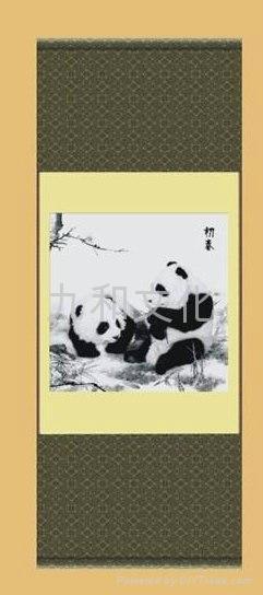 蜀錦 真絲織錦 初春 熊貓 1