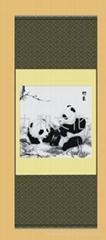 蜀錦 真絲織錦 初春 熊貓