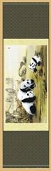 蜀錦 和諧 熊貓 真絲織錦