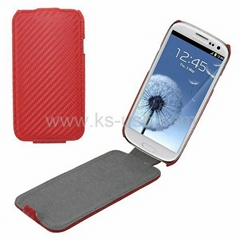 High Quality Carbon Fiber Leather Case for Samsung Galaxy SIII i9300