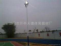 供應戶外球場專用錐形鍍鋅氟碳漆燈柱(燈光)