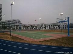 供應球場跑道操場塑膠彈性跑道工程